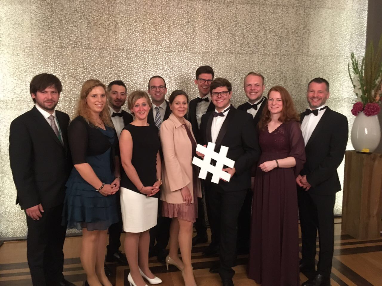 #cgn2017_Die Mainzer Delegation am Gala Abend